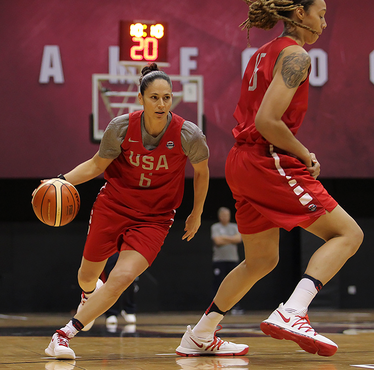 Sue playing with Team USA.