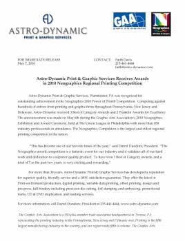 Astro Neo Awards 2010 Press Release