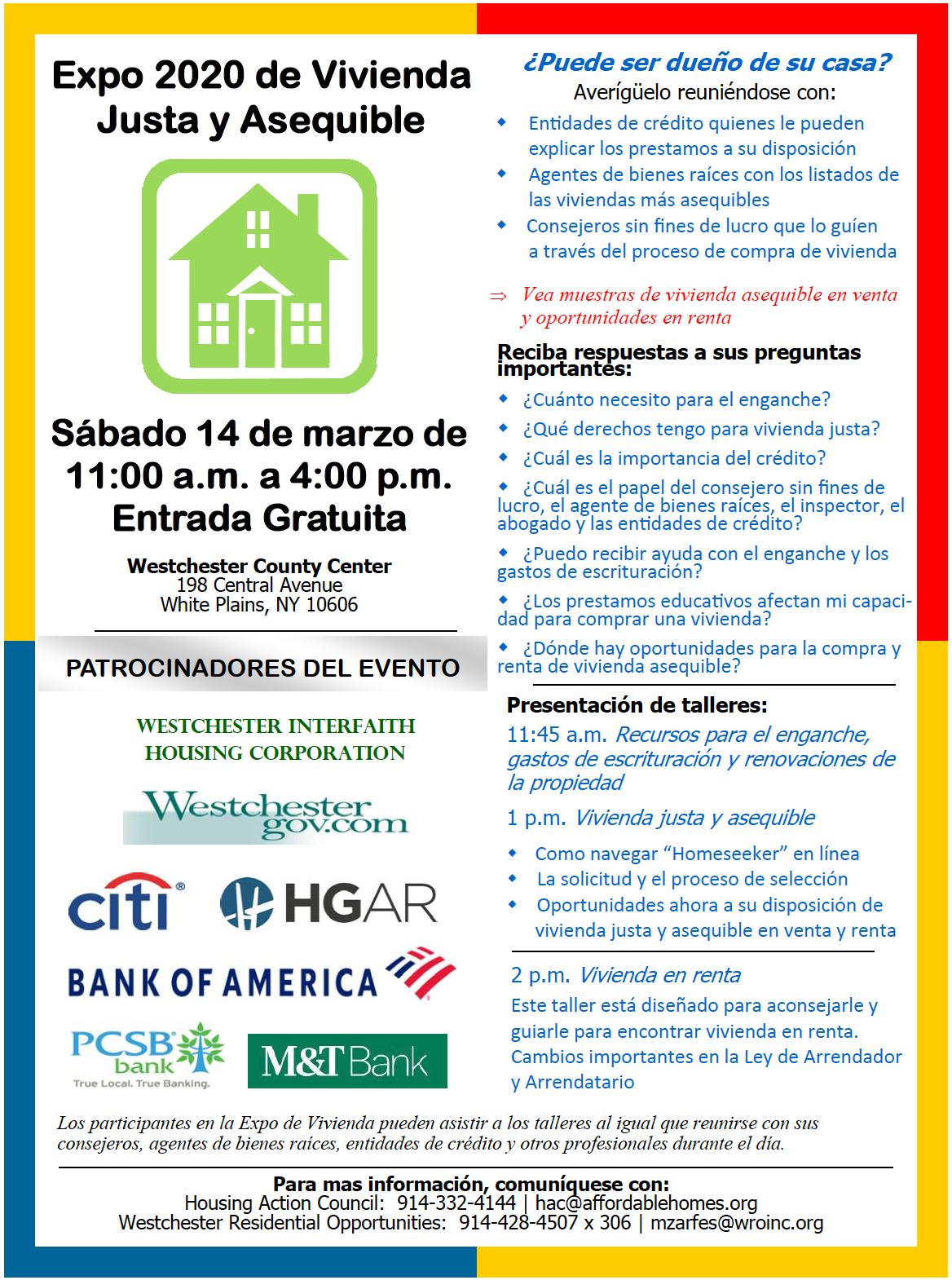 Housing Action Council - Expo 2020 de Vivienda Justa y Asequible