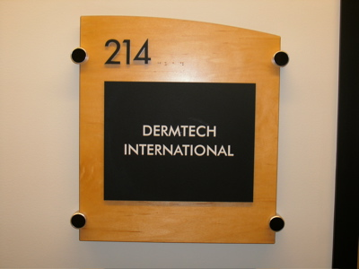Suite Door Sign