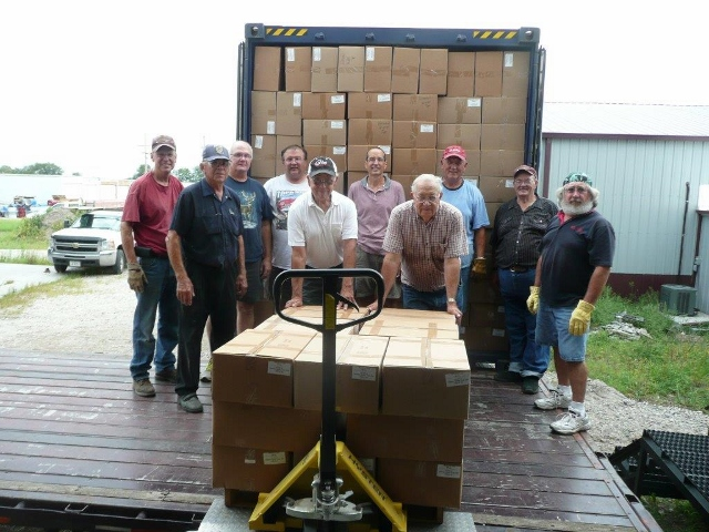 Central Nebraska Branch volunteers load shipment