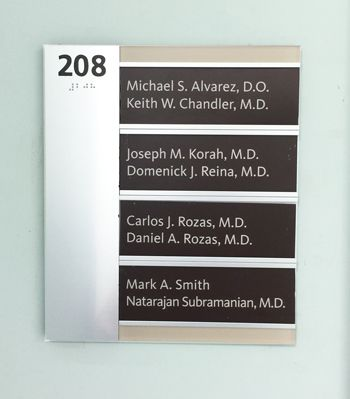 ADA Sign with Name Plates