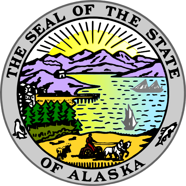 W32012 - Seal of the State of Alaska Wooden Plaque