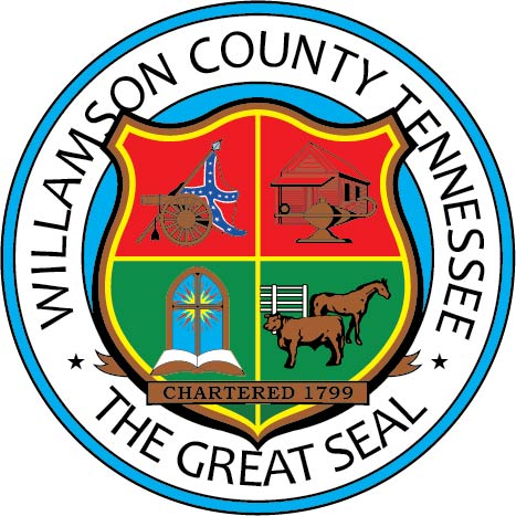 CP-1800 - Carved Plaque of the Seal of Williamson County,Tennessee,   Artist Painted