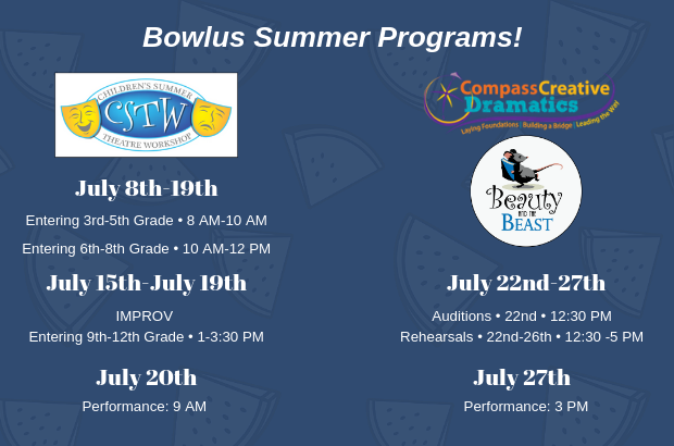 Bowlus Childrens Summer Programs!