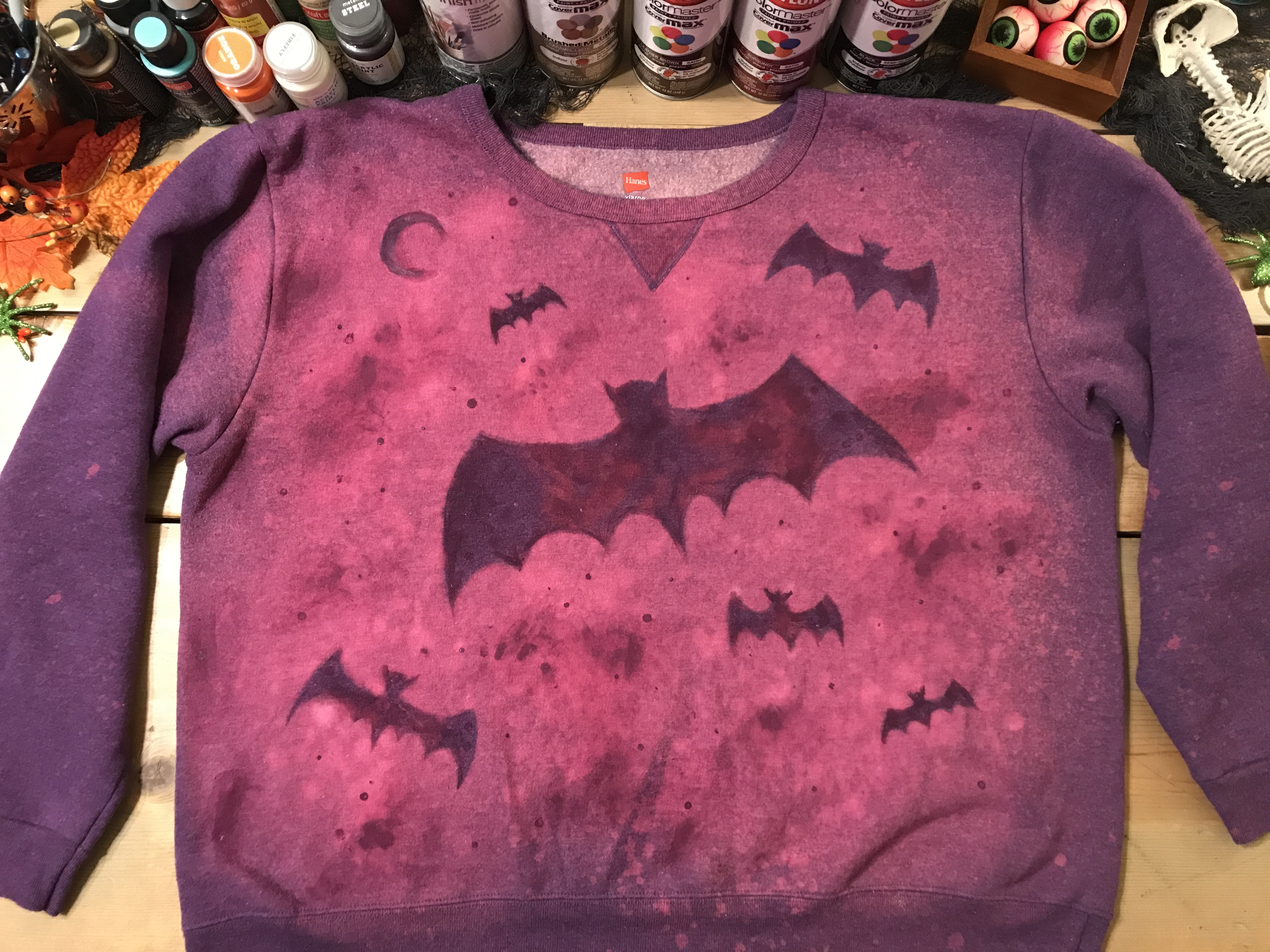 Batty Bleached Sweatshirt