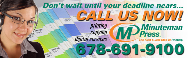 Minuteman Press SAndy Springs GA Printing Brochures Form Business Cards