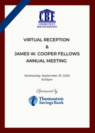 2020 Virtual Reception & Annual Meeting Program and Materials