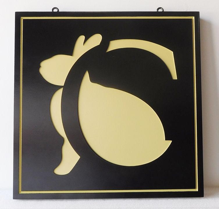 SA28499 - Carved Engraved HDU Sign Featuring a Logo (a Rabbit)  for a Retail Store