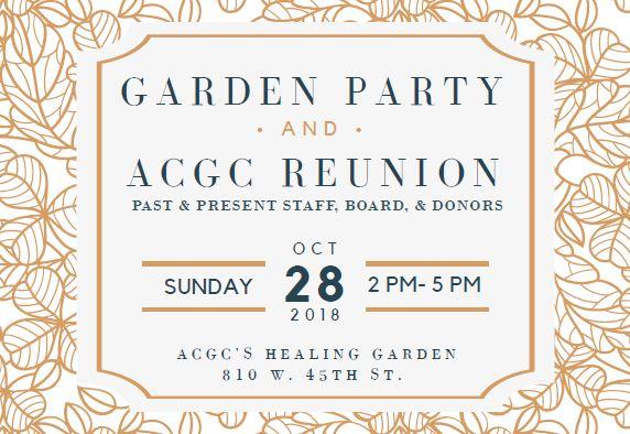 Garden Party & ACGC Reunion