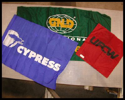 Nylon Banners, Flags and Table Drapes