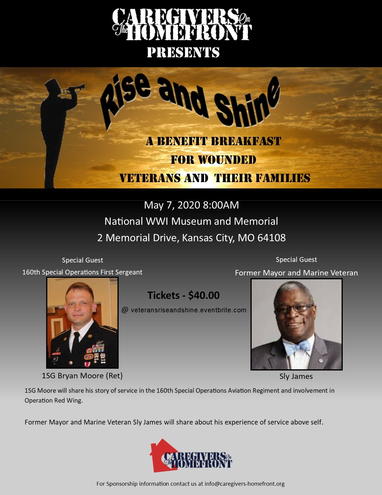 Rise and Shine Breakfast Benefit for Veterans and their Families