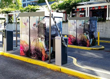 Parking Booth Wraps