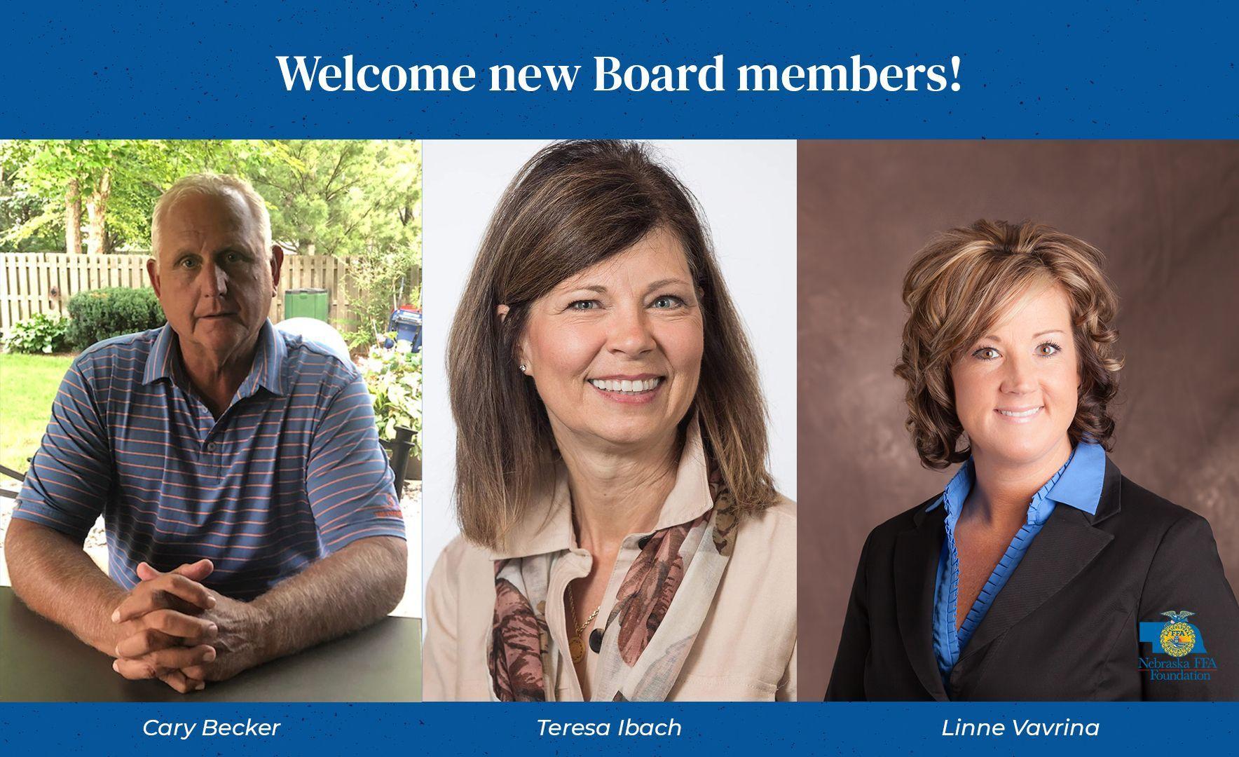 Becker, Ibach, Vavrina Join Nebraska FFA Foundation Board