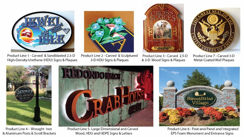 Carved Signs and Plaques