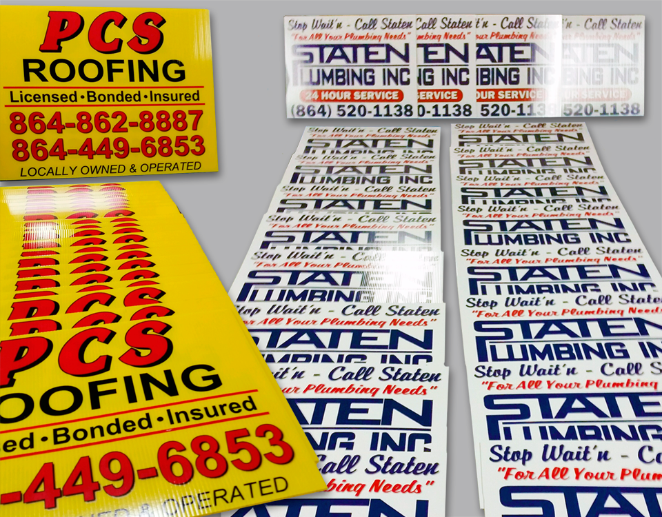 Coroplast Signs (Stake Signs)
