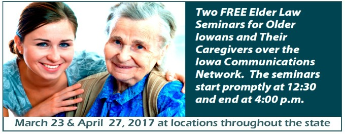 Elder law seminars 2017
