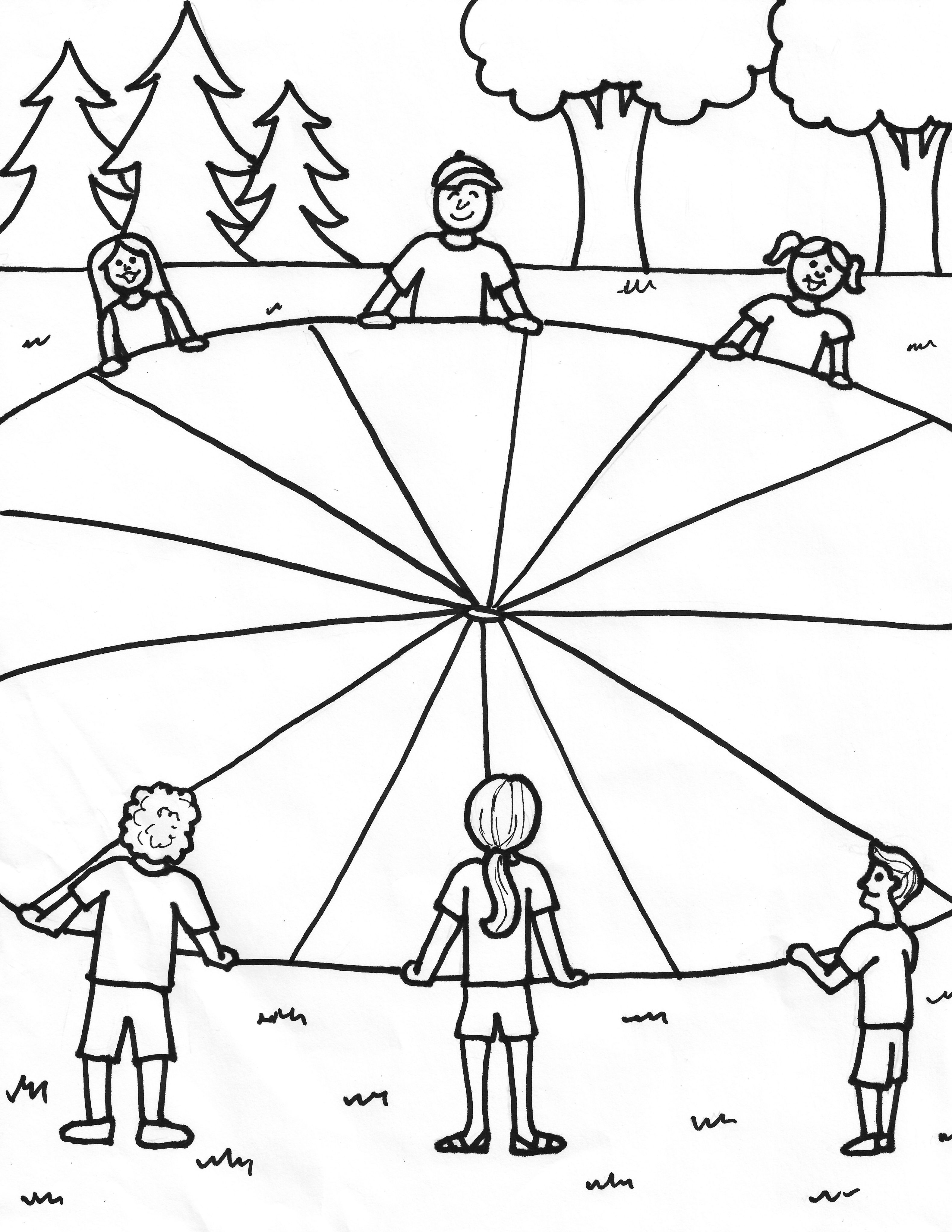 Parachute Games Coloring Page (JPG)