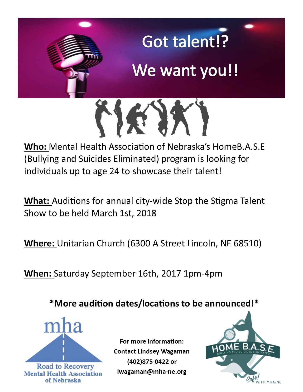 AUDITIONS for youth talent showcase!