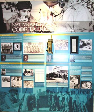Main Panel of Native American Code Talkers exhibit