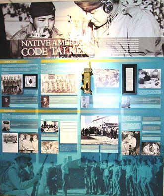 Main Panel of Native American Code Talkers exhibit