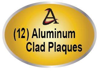 M7553 - (12)  Aluminum Cladding  Overlay Plaques