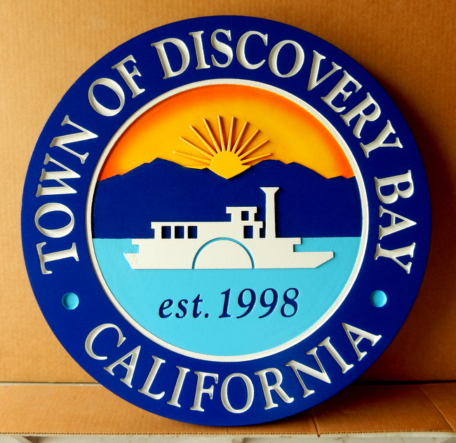 CB5250 - Seal of the Town of Discovery Bay, California, Multi-level Relief