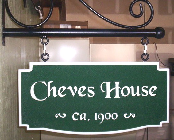 AG110 - Classic Carved Property Name Sign - $150
