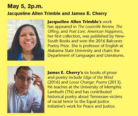 Writers to Readers at the Helen Keller Public Library featuring Jacqueline Allen Trimble and James E. Cherry