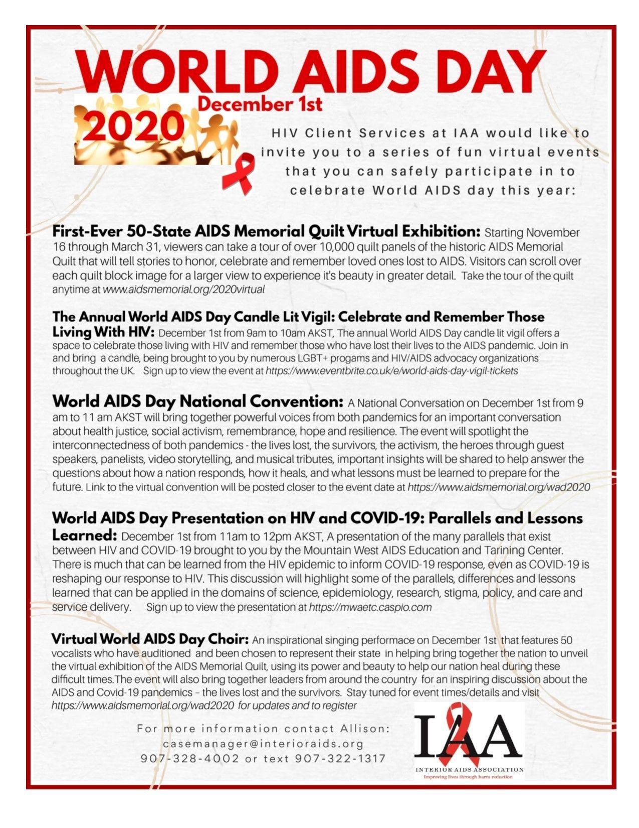 Worlds AIDS Day 2020