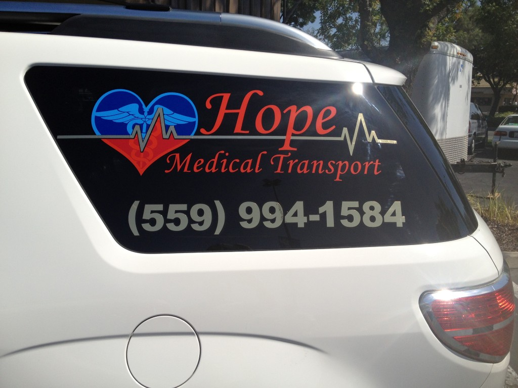 Hope Medical Window Lettering