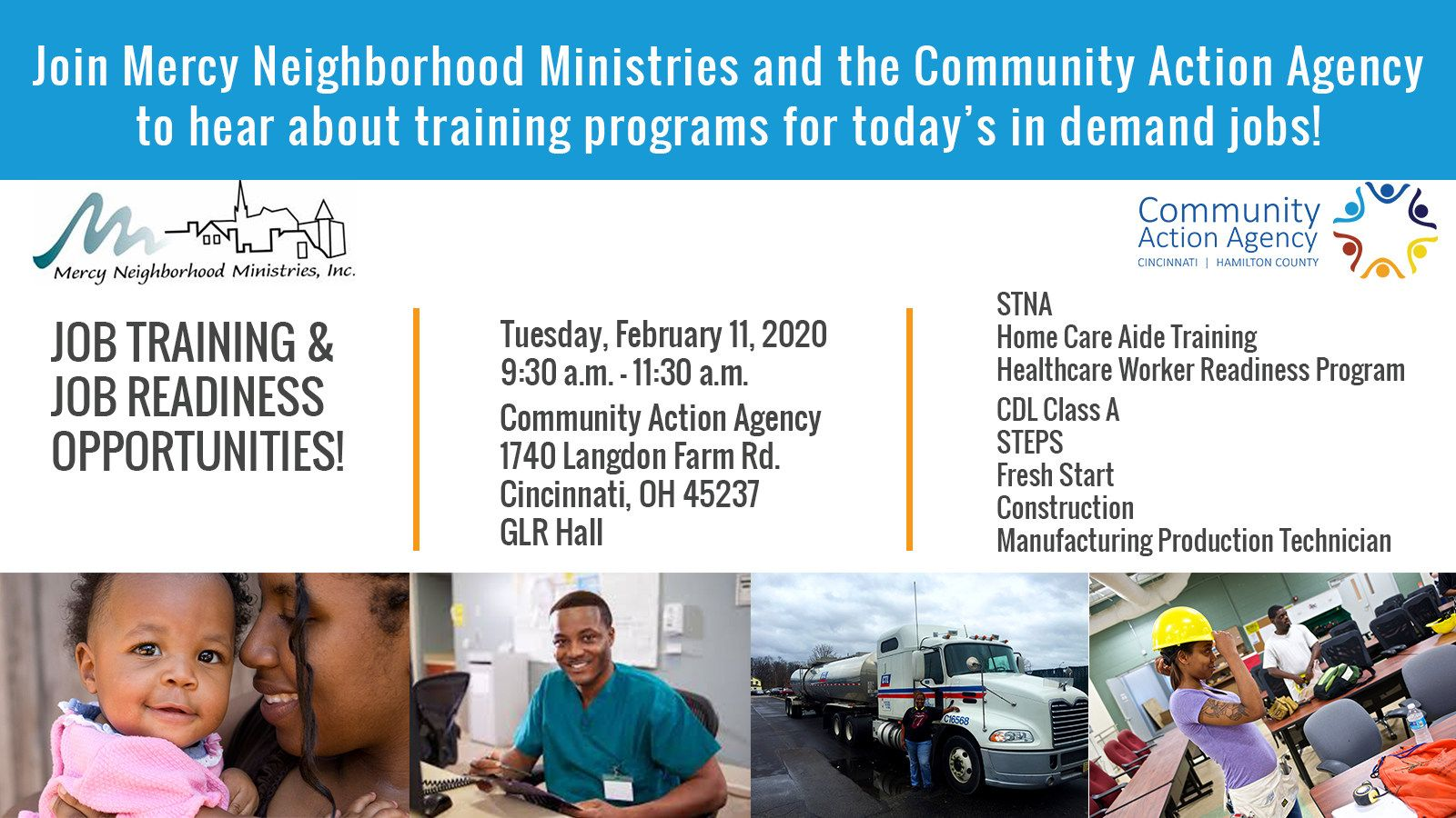 Job Training & Readiness Information Session - February 11, 2020