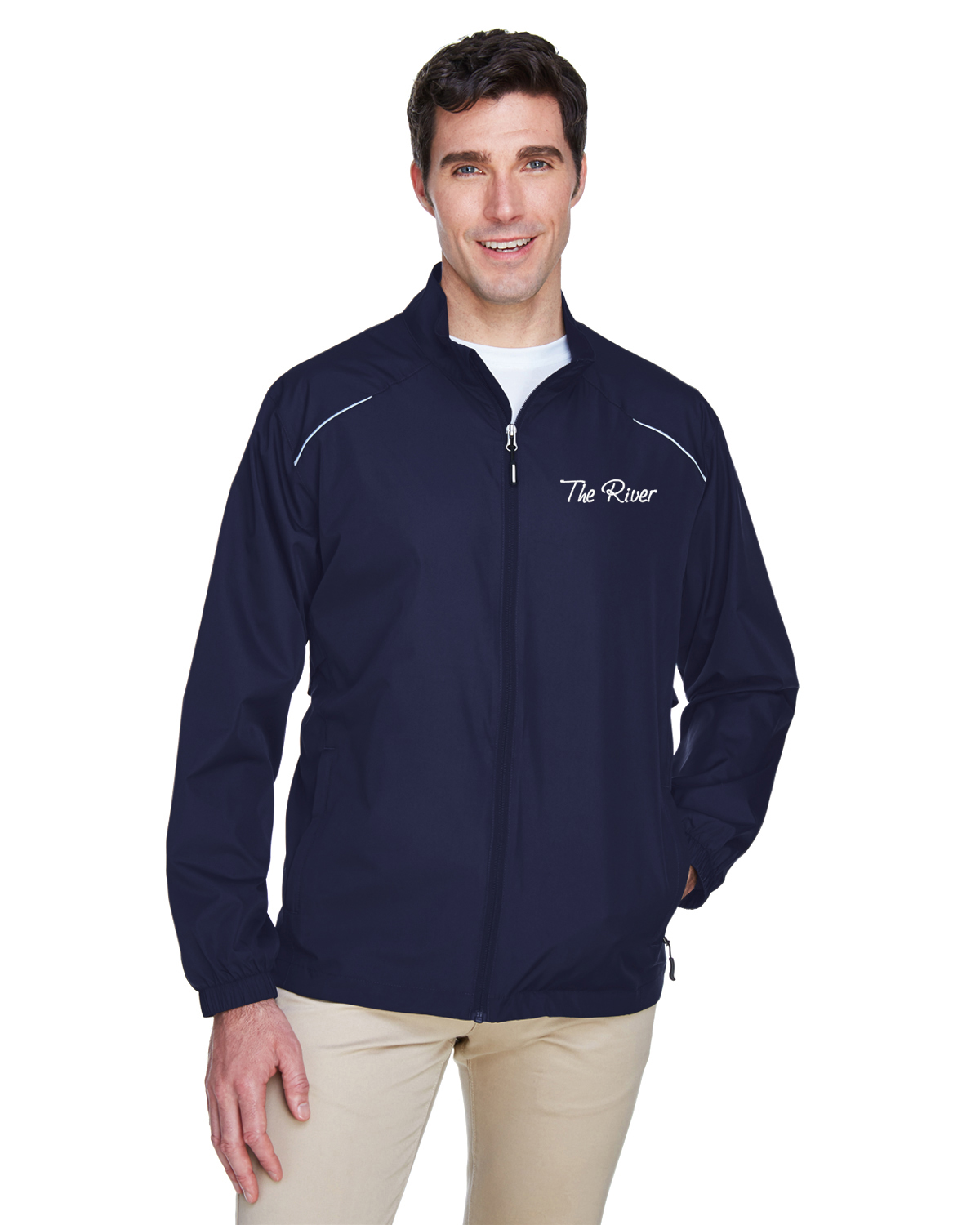 88183Prime Plus Core 365 Men's Motivate Unlined Lightweight Jacket Classic Navy