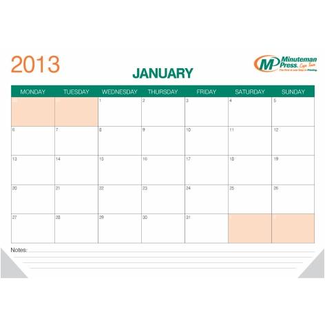 12pp A2 Desk Pad Calendars