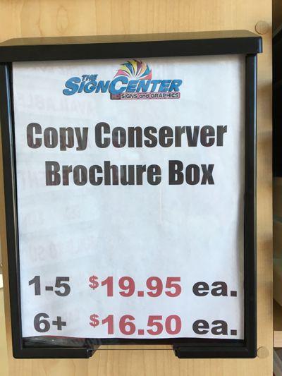 Copy Conserver Brochure Box