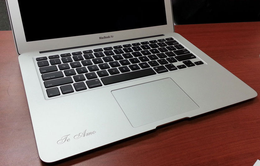 Engraving on MacBook
