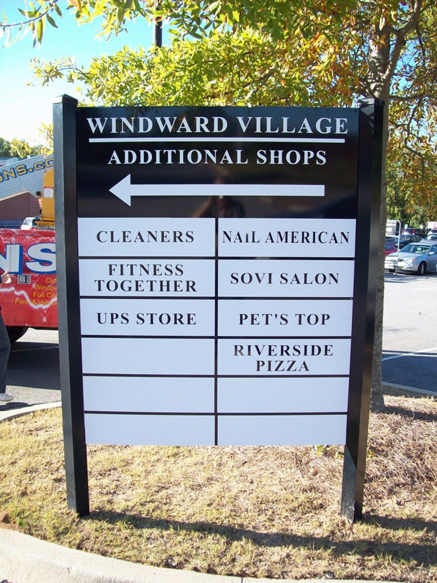 Refacing of Windward Village Sign