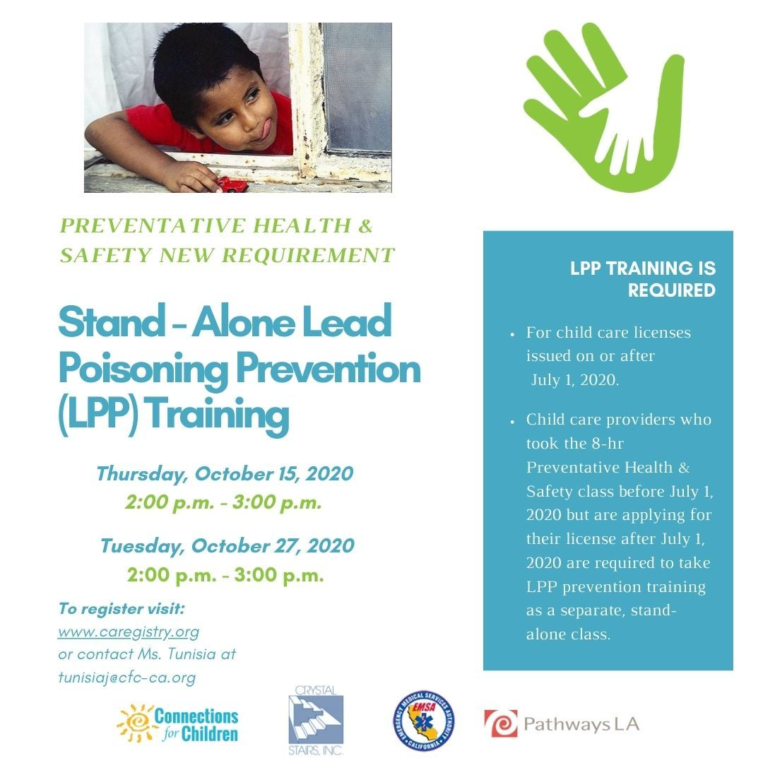 Stand Alone Lead Poisoning Prevention Training