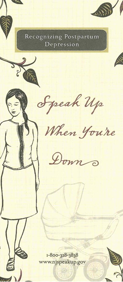 Speak Up When You're Down Brochure