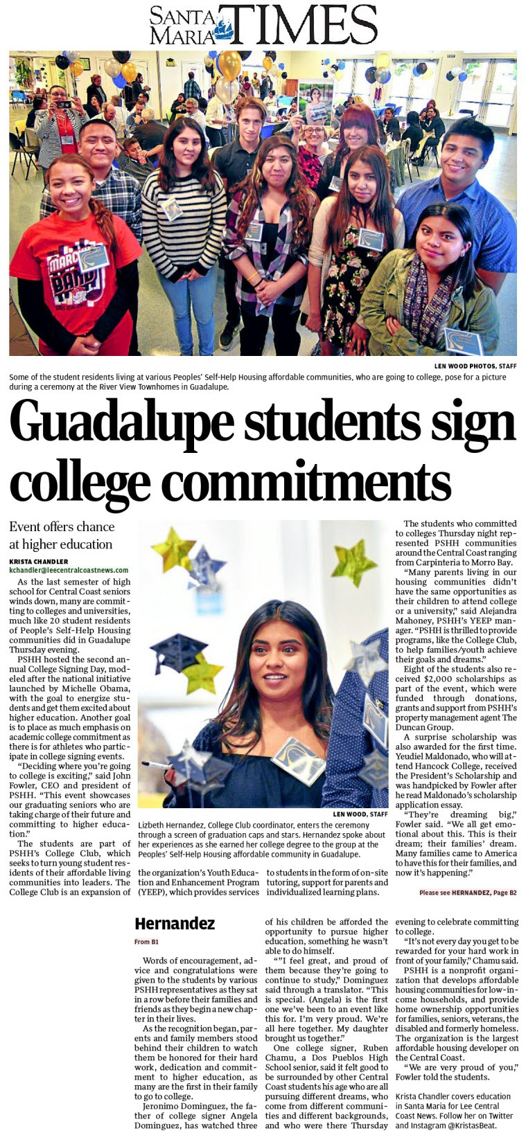 Guadalupe Students Sign College Commitments