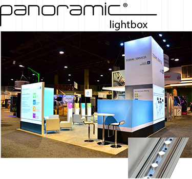 fabric graphic lightbox LED lights