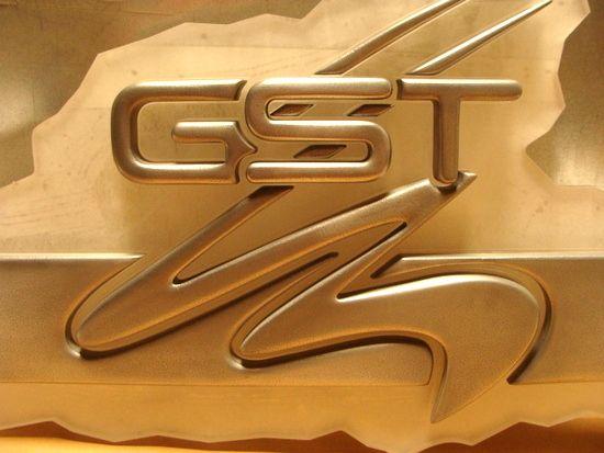 SB28994 - Carved HDU Gold-Plated Logo Emblem  for a Corporation, Highly Polished