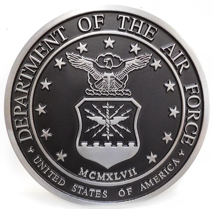 LP-1135 -  Plaque of the  Seal  of the US Air Force, 2.5-D Aluminum Plated
