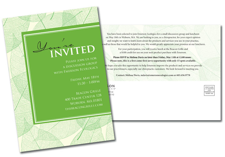 Emerson Ecologics Invitation