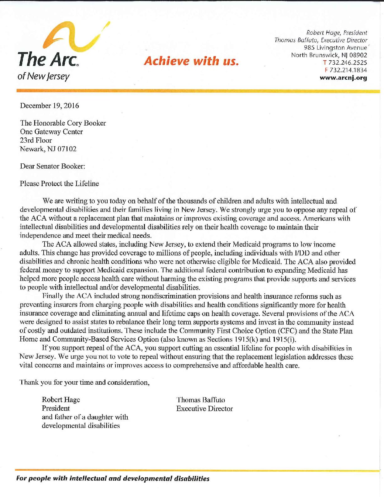 Letter to NJ Delegation - 12.19.2016