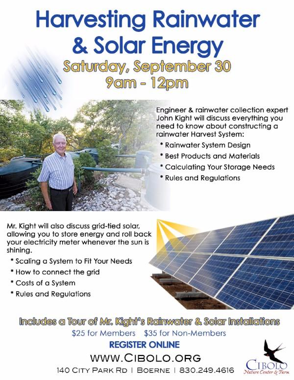 CNC: Harvesting Rainwater & Solar Energy