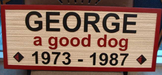 O24512 - Dog Memorial Sign