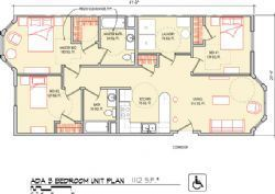 ADA 3 Bedroom 1112 SF