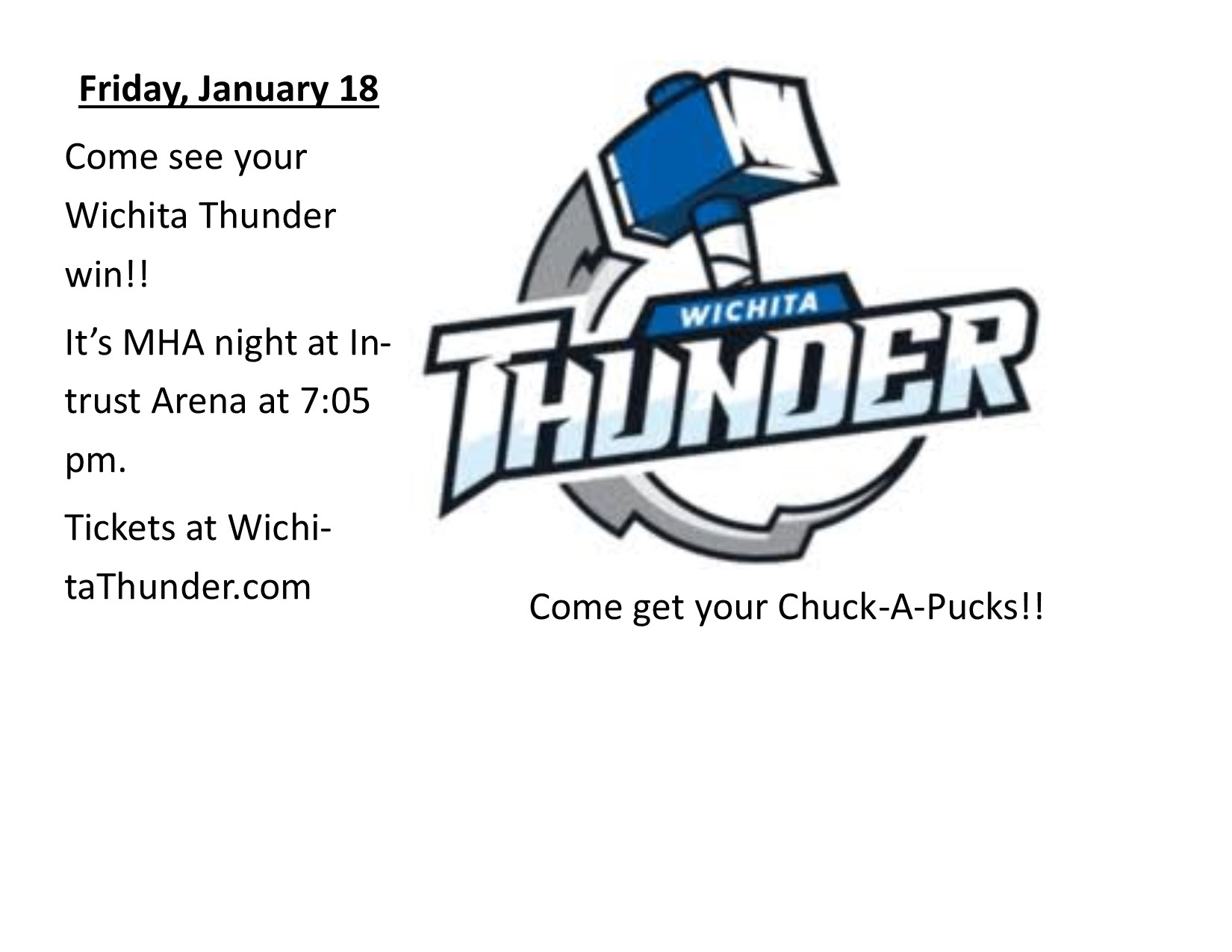 MHA Night at Wichita Thunder
