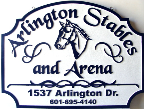 P25084 - Custom Entrance Sign for Stables and Arena